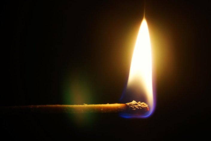 as I burn